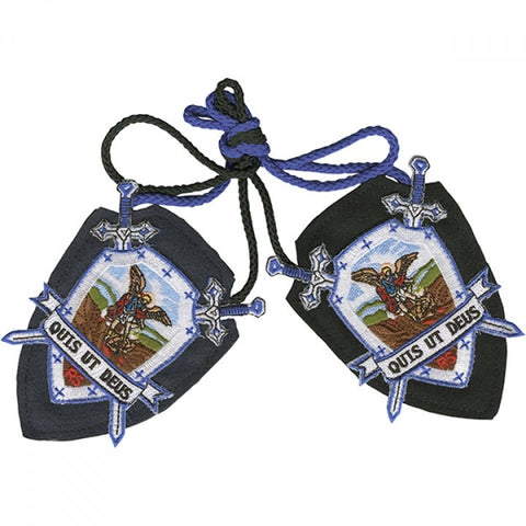 St Michael Shield Scapular from the 1800s - St. Benedict's Catholic Store