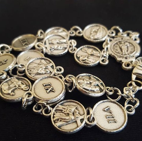 Stations of the Cross Bracelet Italian Imported - St. Benedict's Catholic Store