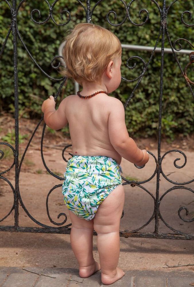 Wattle Baby Nappy on a gorgeous toddler