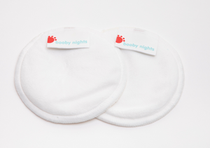 Load image into Gallery viewer, Booby Days or Booby Nights - Nursing Pads (minky white and minky prints)