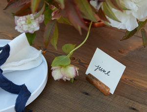 Bamboo Place card Holder Set