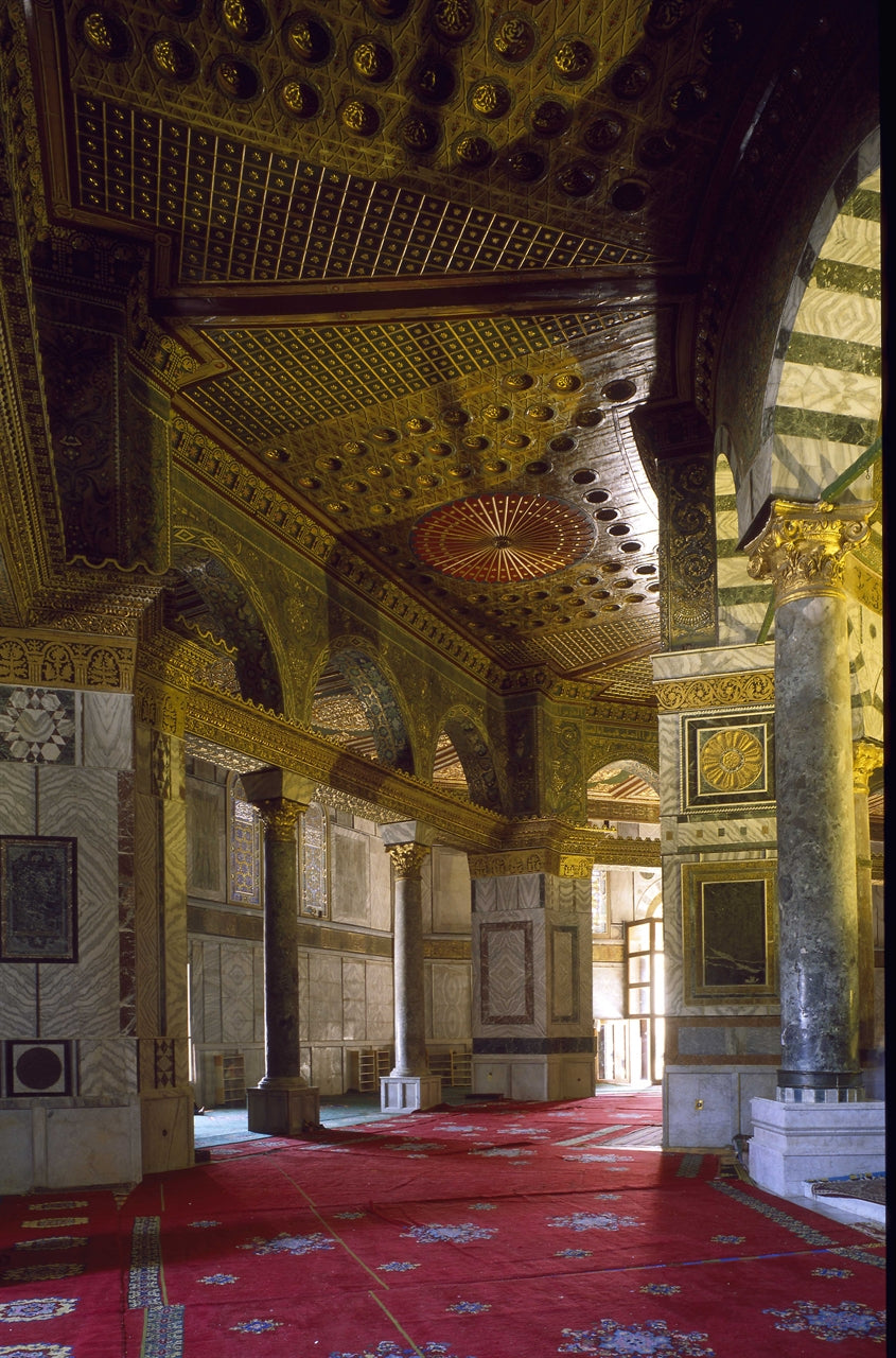 Dome of the Rock Interior Photographic Print on Canvas - Muhsin Kilby