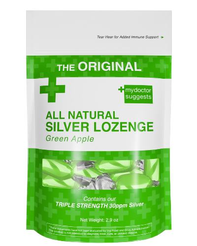 Silver Lozenges - Green Apple (20-count)