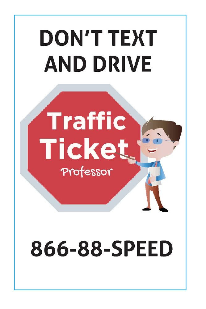 Traffic Ticket Professor Car Magnet