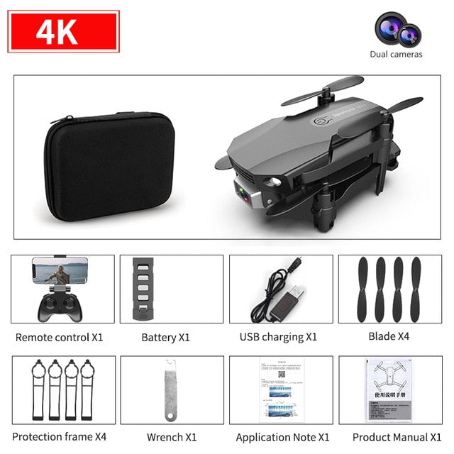 New R16 drone 4k HD dual lens mini drone WiFi 1080p real-time transmission FPV follow me