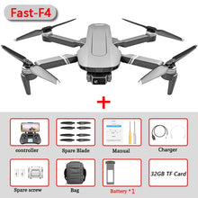 Load image into Gallery viewer, F4 Drone GPS 4K 5G HD Mechanical Gimbal Camera  System Supports TF Card Drones Stabilier Distance 2km Flight 25 Min VS SG906Pro