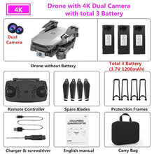 Load image into Gallery viewer, 2020 NEW E68 Drone HD wide angle 4K WIFI 1080P FPV Drones video live Recording Quadcopter