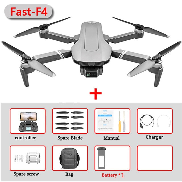 F4 Drone GPS 4K 5G HD Mechanical Gimbal Camera  System Supports TF Card Drones Stabilier Distance 2km Flight 25 Min VS SG906Pro