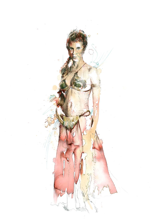 Carne Griffiths -Leia - Star Wars Print - JG Contemporary