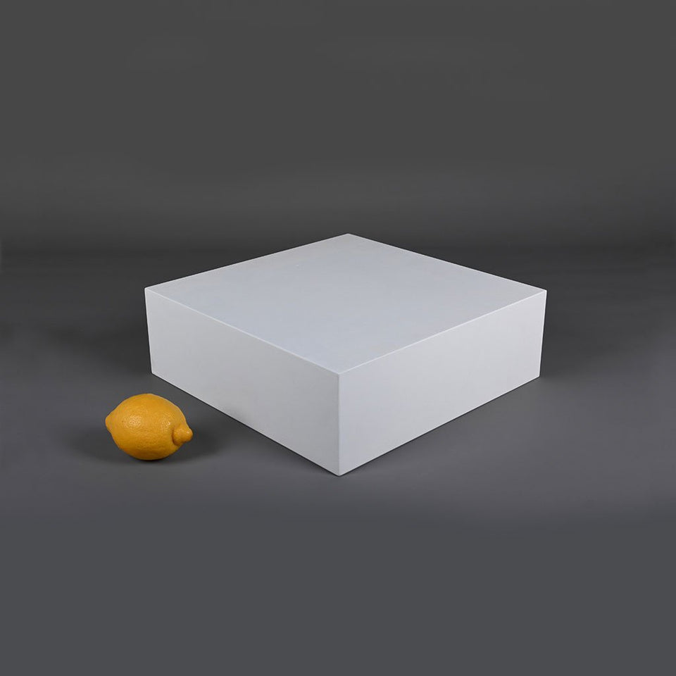 large flat box styling prop photo prop with lemon