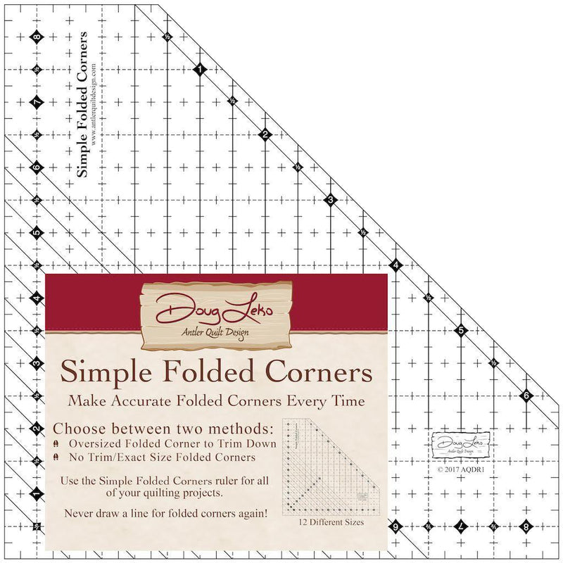 Antler Quilt Design Simple Folded Corners Ruler