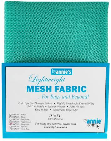 "By Annie Light Weight Mesh Fabric Turquoise 18"" x 54"" SUP209 TUR"