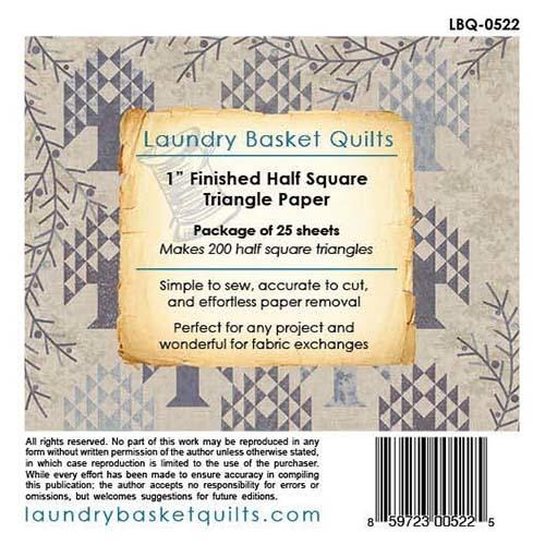 "Laundry Basket Quilts 1"" Finished Triangle Paper - 5"" x 5"" fabric LBQ-0522-X"