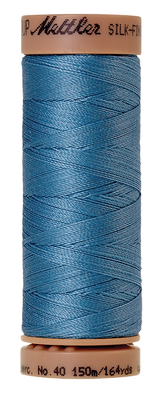 Mettler Silk Finish Cotton 40 164 Yds Color 9106-0338 Reef Blue