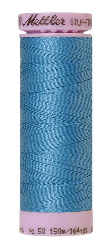Mettler Silk Finish Cotton 50 164 Yds Color 9105-0338 Reef Blue