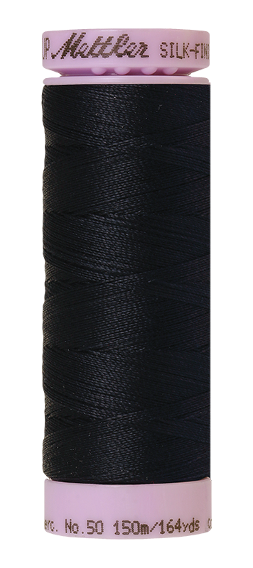Mettler Silk Finish Cotton 50 164 Yds Color 9105-0821 Darkest Blue