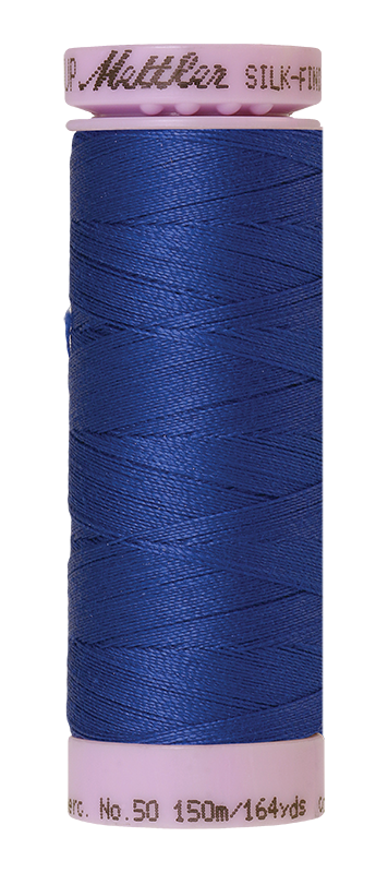 Mettler Silk Finish Cotton 50 164 Yds Color 9105-1078 Fire Blue