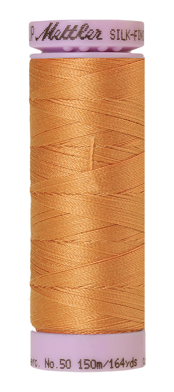 Mettler Silk Finish Cotton 50 164 Yds Color 9105-1172 Dried Apricot