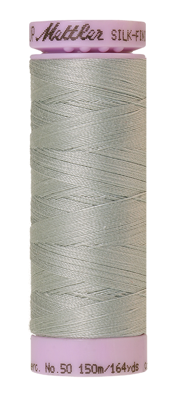 Mettler Silk Finish Cotton 50 164 Yds Color 9105-1340 Silver Grey