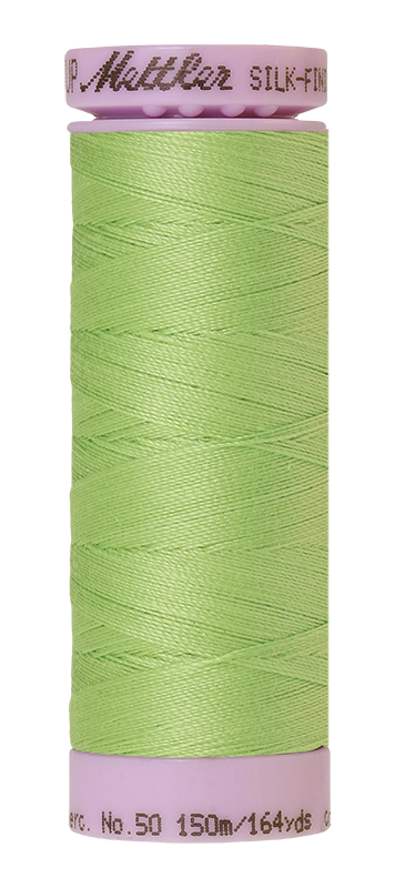 Mettler Silk Finish Cotton 50 164 Yds Color 9105-1527 Jade Lime