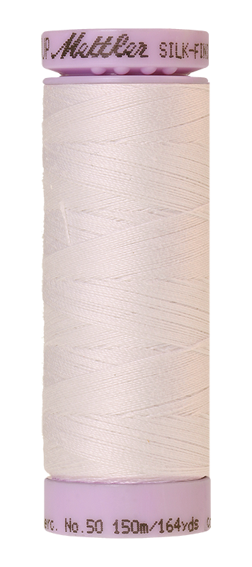 Mettler Silk Finish Cotton 50 164 Yds Color 9105-2000 White