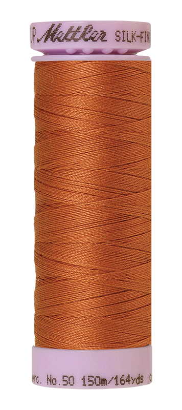 Mettler Silk Finish Cotton 50 164 Yds Color 9105-2103 Amber Brown