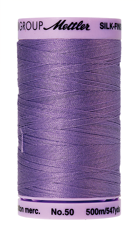 Mettler Silk Finish Cotton 50 547 Yds Color 9104-0029 English Lavender