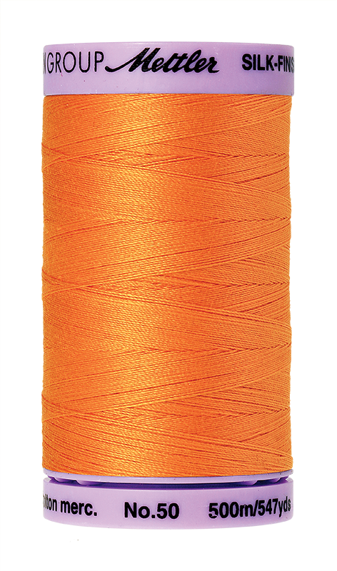 Mettler Silk Finish Cotton 50 547 Yds Color 9104-0122 Pumpkin