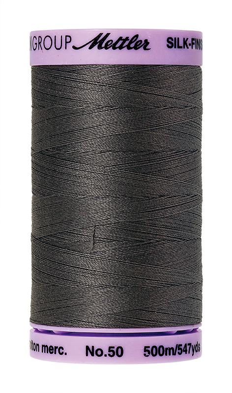 Mettler Silk Finish Cotton 50 547 Yds Color 9104-0416 Dark Charcoal