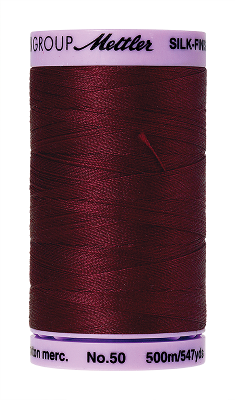 Mettler Silk Finish Cotton 50 547 Yds Color 9104-0918 Cranberry