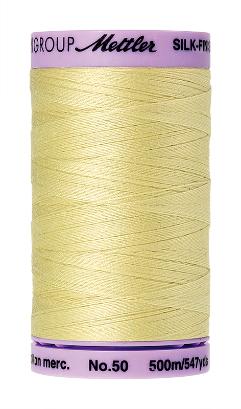 Mettler Silk Finish Cotton 50 547 Yds Color 9104-1412 Lemon Frost