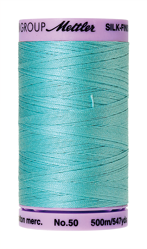 Mettler Silk Finish Cotton 50 547 Yds Color 9104-2792 Blue Curacao