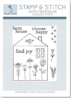 Poppie Cotton Stamp and Stitch: Happy Farmhouse