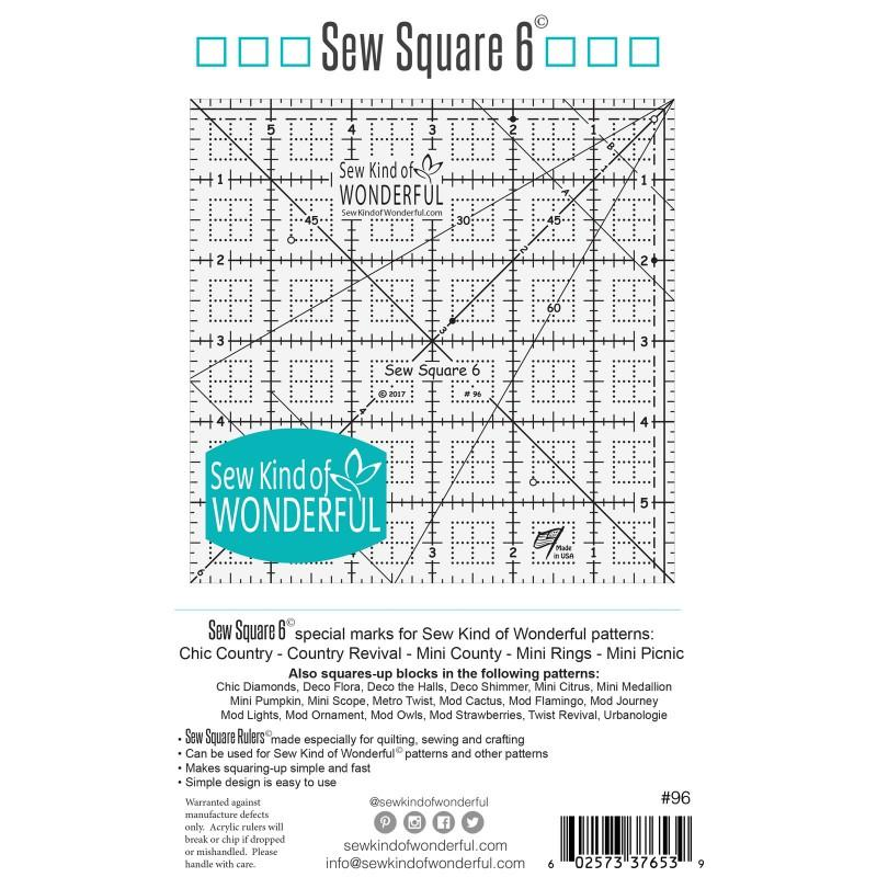"Sew Kind of Wonderful Sew Square 6"" Ruler SKW96"