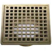 "6"" x 6"" Square Adjustable Grate with 3.5"" Diameter Thread Pattern - Balcony Drains - Copperlab"