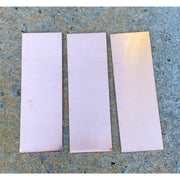"6""x2"" Rectangular Copper Stamping Blanks- made from 16oz (aprox 24 gauge copper) - Stamping Blanks - Copperlab"