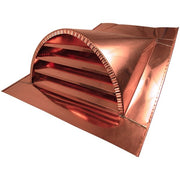 Copper Half Round Louvered Dormer Vent - Roof Vents - Copperlab
