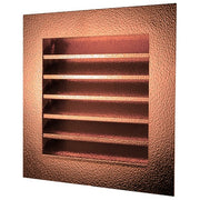 Hammered Copper Louvered Gable End Vent - Wall Vents - Copperlab