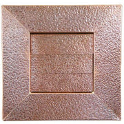 "Hammered Copper Low Profile Louvered Dryer Vent - Exhaust Vent (4""-12"") - Exhaust Vents - Copperlab"