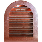 Hammered Copper Tombstone Louvered Gable Wall Vent - Wall Vents - Copperlab
