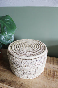 Hand Woven Baskets with Lids