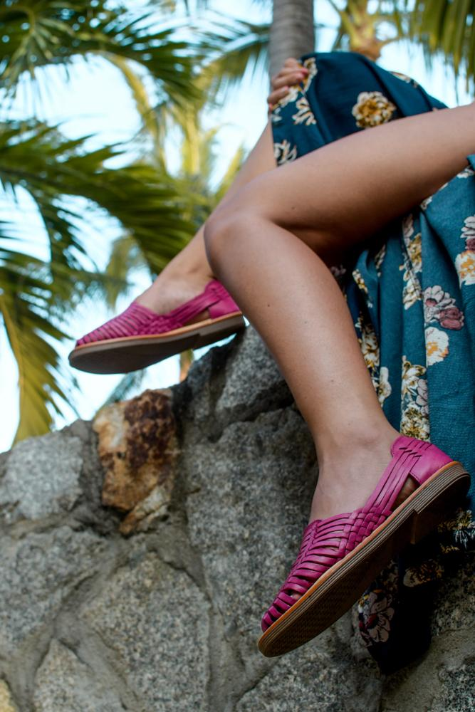 Frida - Women's Pink Leather Shoes