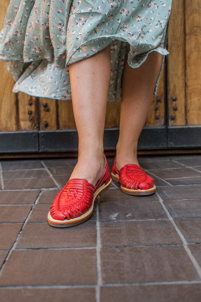 Frida - Women's Red Leather Shoes
