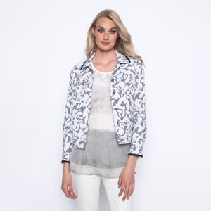 Jacket with Abstract Print