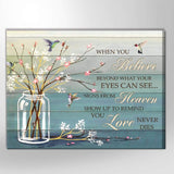 Zalooo When You Believe Hummingbird Wall Art Canvas