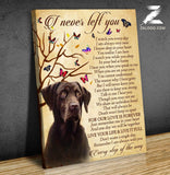 Zalooo I Never Left You Chocolate Labrador Wall Art Canvas