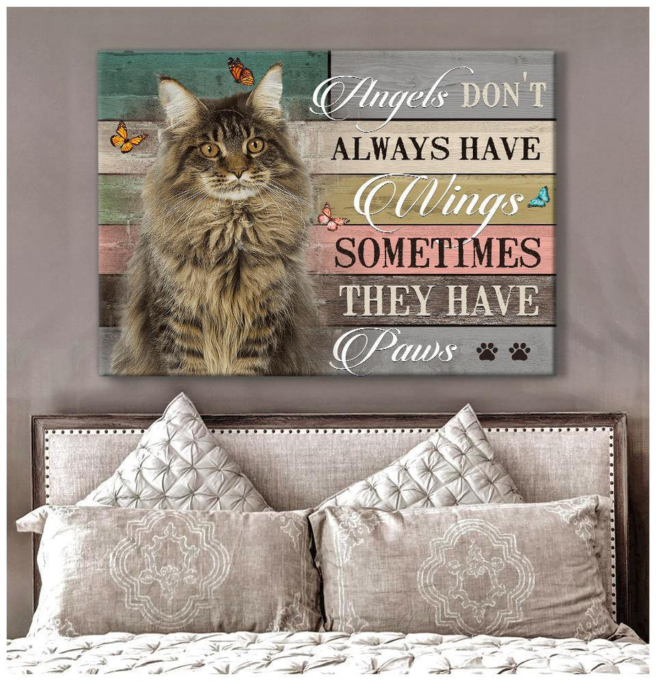 Zalooo They Have Paws Maine Coon Wall Art Canvas