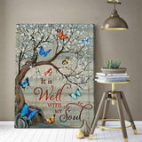 Zalooo It Is Well With My Soul Butterfly Wall Art Canvas