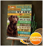 Zalooo I Am Your Labrador Personalized Dog Photo Wall Art Canvas