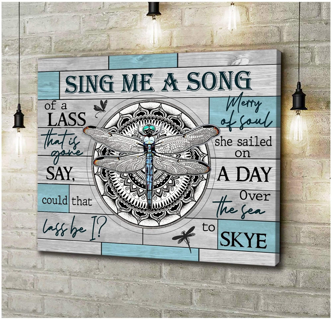 Zalooo Sing Me A Song Dragonfly Wall Art Canvas